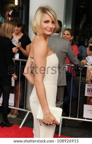 Cameron Diaz arriving for the UK Premiere of 'What To Expect When You're Expecting' at the Imax Cinema, London. 22/05/2012 Picture by: Steve Vas / Featureflash - stock photo