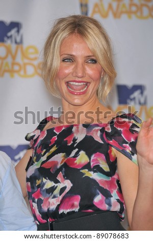 Cameron Diaz at the 2010 MTV Movie Awards at the Gibson Amphitheatre, Universal Studios, Hollywood. June 6, 2010  Los Angeles, CA Picture: Paul Smith / Featureflash - stock photo