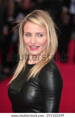 Cameron Diaz attends the UK Gala premiere of 'The Other Woman' at The Curzon Mayfair on April 2, 2014 in London, England. - stock photo
