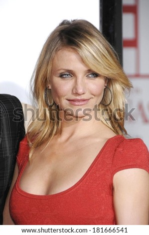 Cameron Diaz, wearing a Zac Posen dress, at Premiere of WHAT HAPPENS IN VEGAS, Mann's Village Theatre in Westwood, Los Angeles, CA, May 01, 2008