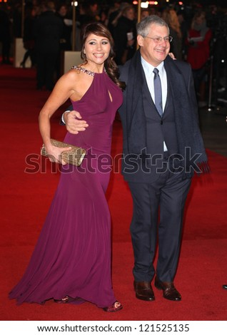 Cameron Mackintosh and Frances Ruffelle arriving for the premiere of 'Les Miserables' at Leicester Square, London. 05/12/2012 Picture by: Alexandra Glen