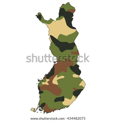 Camo texture in map - Finland - stock photo