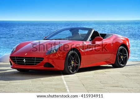 Camogli, Liguria, Italy - April 13, 2016: Ferrari California T Handling Speciale - stock photo