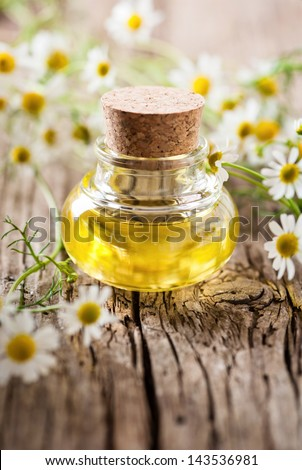 camomile oil - stock photo