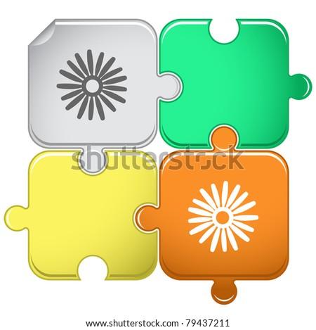 Camomile. Raster puzzle. Vector version is in portfolio. - stock photo