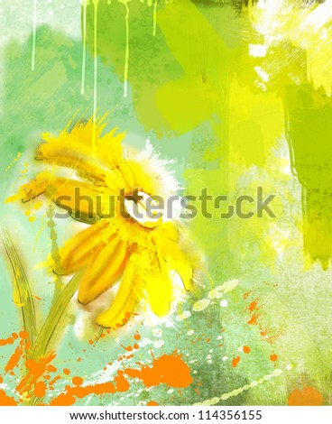 camomile. watercolor - stock photo