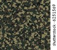 Camouflage army texture with visible canvas pattern - stock photo