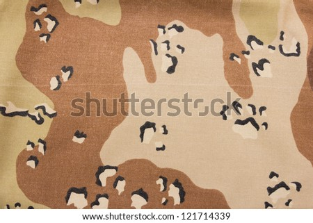 Camouflage fabric of military - stock photo