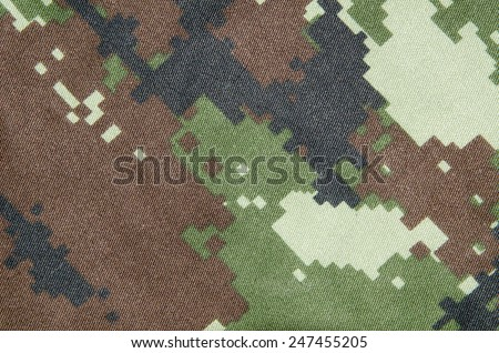 camouflage fabric texture - stock photo