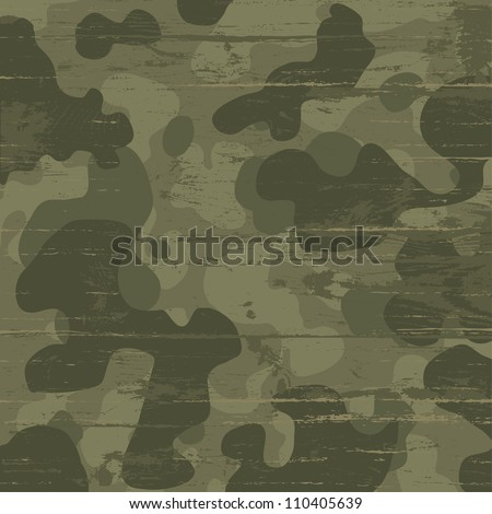 Camouflage military background. Raster version, vector file available in portfolio. - stock photo