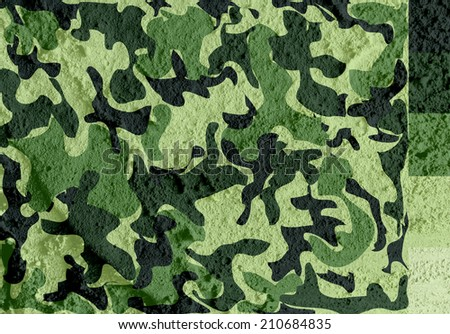 Camouflage pattern design  on wall texture background