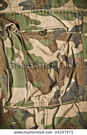 Camouflage pattern trousers - stock photo