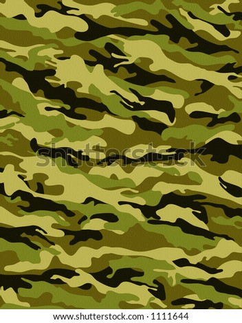 camouflage pattern with rough realistic fabric texture - stock photo