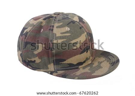 camouflage rap cap - stock photo