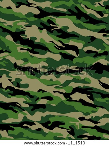 camouflage series in traditional swampy green and beige - stock photo