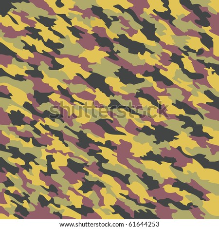 camouflage texture, abstract pattern; art illustration; for vector format please visit my gallery - stock photo