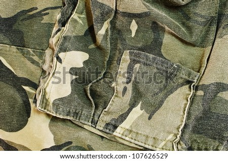 Camouflage texture backgroud. Army suit. - stock photo
