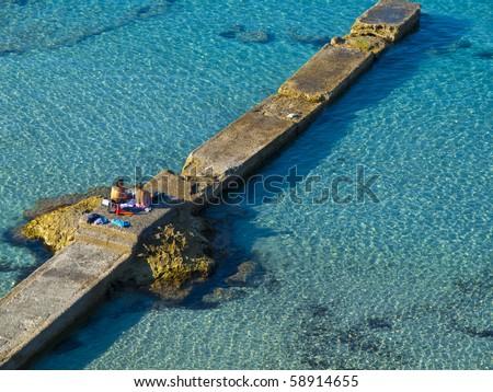 Camp de Mar Paradise - stock photo