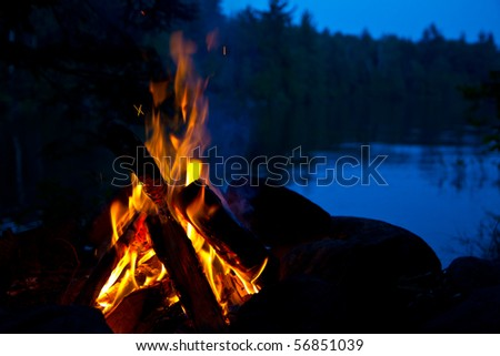 Camp Fire - stock photo