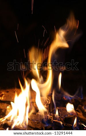 Camp fire campfire - stock photo