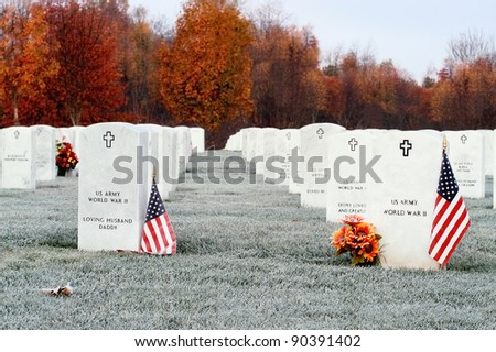 Camp Nelson National Cemetery in Kentucky. - stock photo