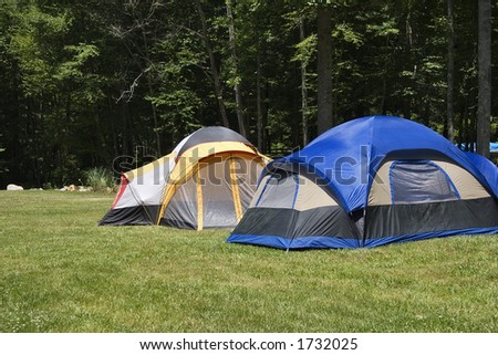 Camp Out - stock photo
