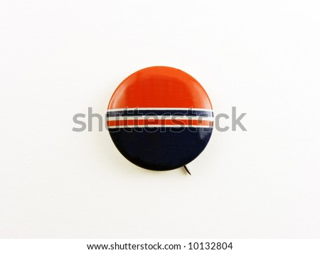 campaign pin - blank - stock photo