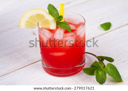 Campari and vermouth cocktail - stock photo