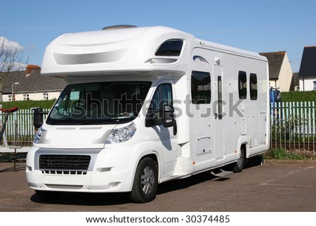 camper van - stock photo
