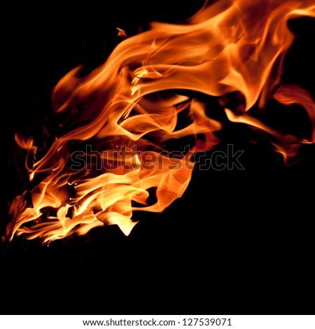 campfire flames - stock photo