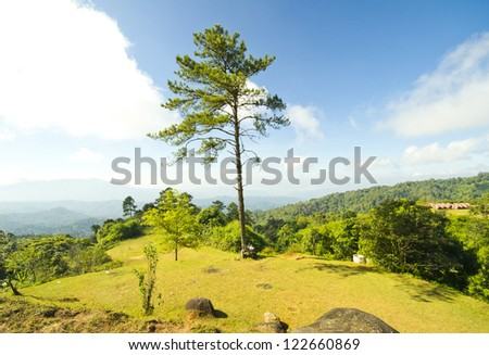 campground in highland. - stock photo