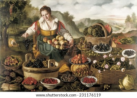 CAMPI, Vincenzo (1536-1591), The Fruit Seller, ca. 1580, Renaissance art, Cinquecento, Oil on canvas,