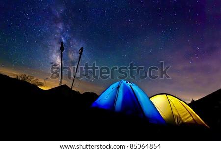 Camping - stock photo