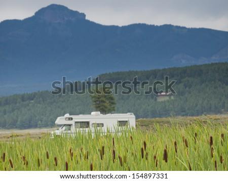 Camping at Echo Canyon Reservoir, Colorado. - stock photo