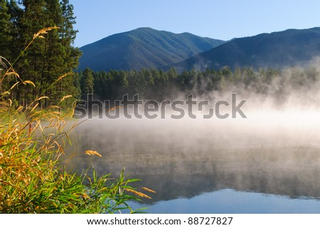 Camping at Loon Lake British Columbia, Canada