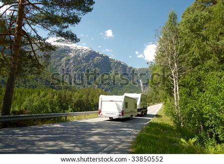 Camping car - stock photo