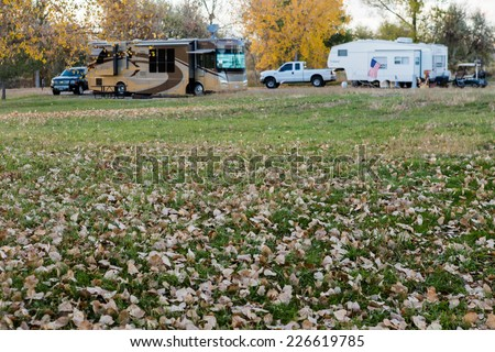 Camping in late October in Colorado. - stock photo