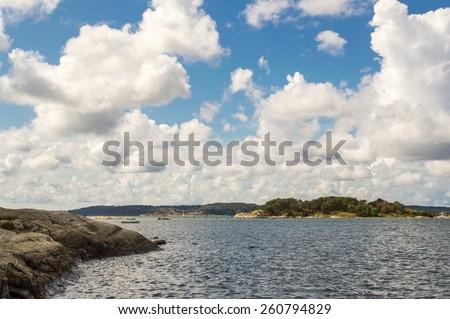 Camping in Stenungsund, Sweden - stock photo