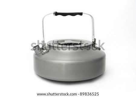 camping kettle isolated. - stock photo