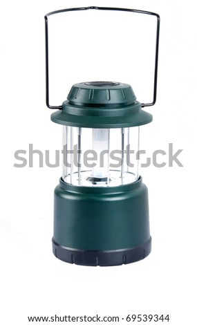Camping lantern isolated on white