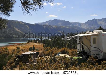 Camping Paradise - stock photo