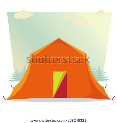 C&ing Tent. illustration of Cartoon Ten . Graphics style. Outline image. Single icon  sc 1 st  Shutterstock & Camping Tent Illustration Cartoon Ten Graphics Stock Illustration ...