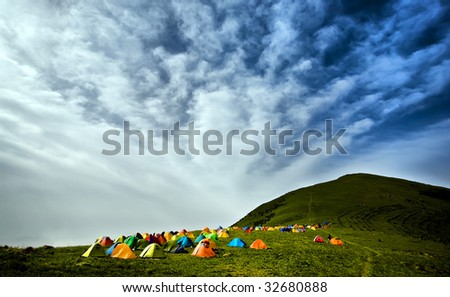 Camping tents - stock photo