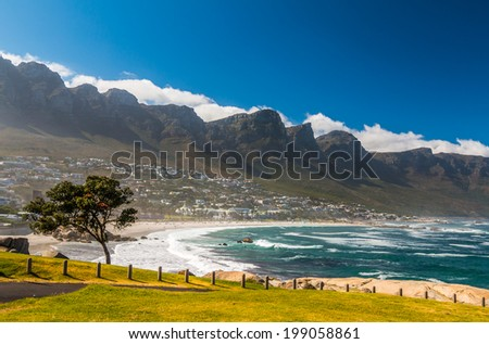 Camps Bay Beach Cape Town South Africa - stock photo