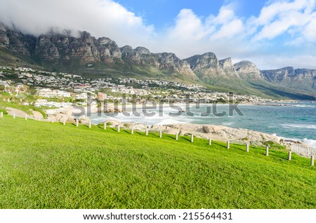 Camps Bay Beach  Cape Town, South Africa - stock photo
