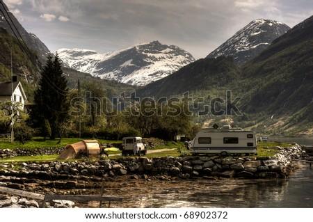 Campsite - stock photo