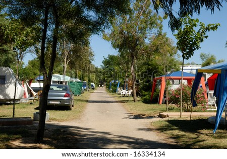Campsite in southern France - stock photo