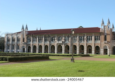 Campus building at Rice University, Houston, Texas