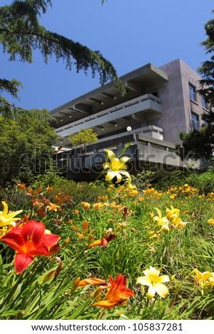 Campus in UC Berkeley - stock photo