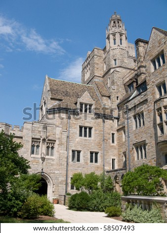 Campus in Yale University - stock photo